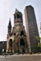 La Kaiser-Wilhelm-Ged�chtniskirche bombard�e en 1943