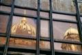 Reflet du Berlin Dom dans les vitres du Palast der Republik