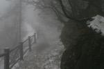 Ca se complique ... neige glacee et brouillard