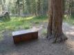 Boite � ours, pr�s des zones de camping fr�quent�es.