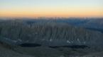 Lev� de soleil sur la Sierra N�vada (partie entre mont Wittney en oc�an Pacifique)