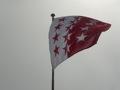 Au Schonbielhutte, on est bien en Suisse (drapeau du Valais) !