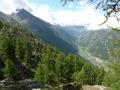 Vall�e de Zermatt (avec le Cervin cach� derni�re les nuages)
