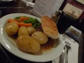 Steak and Ale pie au pub de Broadway