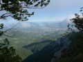 Vue sur Chamb�ry et lac du Bourget de puis la Croix de la Coche