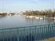 25 janvier 2008, Seine et (au bout) La Defense, vues depuis la passerelle de St Cloud