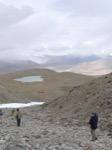 Sur la route Karakurum - Vue du glacier de Muztafata