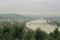 Le Danuble coupe la ville en deux partie, vue de la citadelle