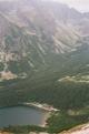 Le Chata pri Propradskom plese (1500m), vue depuis le col de Sedlo pod Ostrwou<br> (Hautes Tatras)