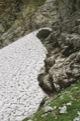 Reste de n�v� sur la descente vers le refuge Morskie Oko <br> (Hautes Tatras - Pologne)