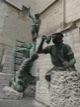 Sculpture repr�sentant le ma�tre architecte de la cath�drale d�Anvers,  Peter Applemans et ses compagnons.