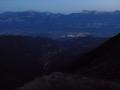 Vue de nuit sur la vall�e de Grenoble depuis le refuge Jean Collet