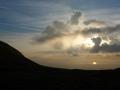 Lev� de soleil sur la lac L�man