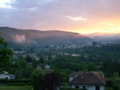 Vue sur Aurec au petit matin