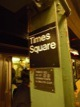 M�tro de NYC, station Times Square