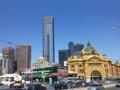 Flinders street railway station and Eureka Tower