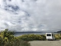 Our camping car on the Lake Wanaka