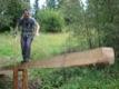 Passage acrobatique de ruisseau