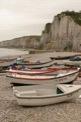 Yport et ses petites barques